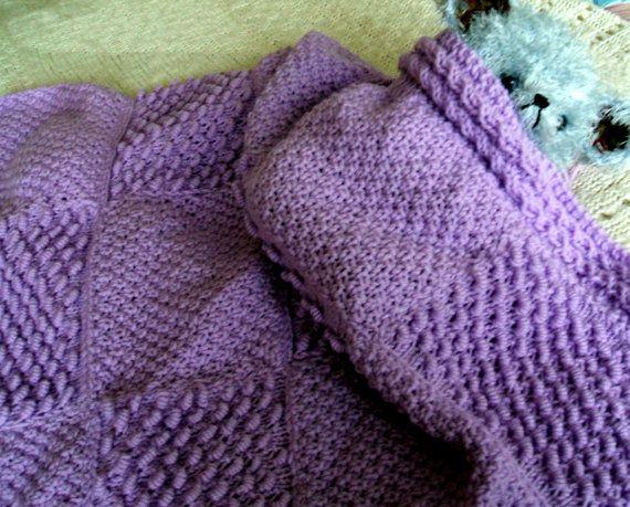 Irish Knit Stitch Patterns : Baby Blanket in Coil & Irish Moss Stitch by HoneyBeeBears on Etsy Knitt...