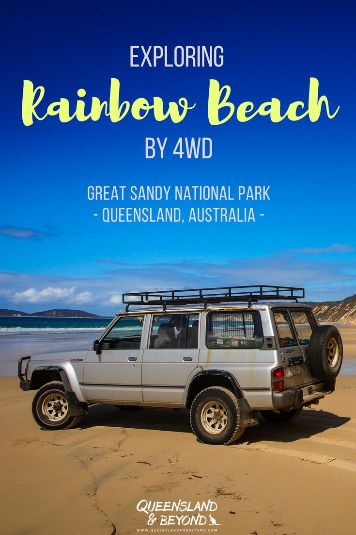 Rainbow Beach in sunny Queensland, Australia, is best explored by 4WD. It's actually not far from the Sunshine Coast, and if you love the beach, a day trip is a must. But find out how you can easily spend a couple of days camping and exploring the coloured sands of Rainbow Beach. 🌐 Queensland & Beyond. #australia #queensland #rainbowbeach #4WD #camping