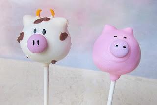 .Pigs Cake, Farm Animals, Animal Cake Pop, Piggies Banks, Farms Animal, Animal Cakes, To Draw, Cake Pop Cake, Farm Cake