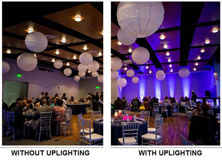 A great example of how #uplighting can completely transform a room! #diy #rentmywedding #unique #party