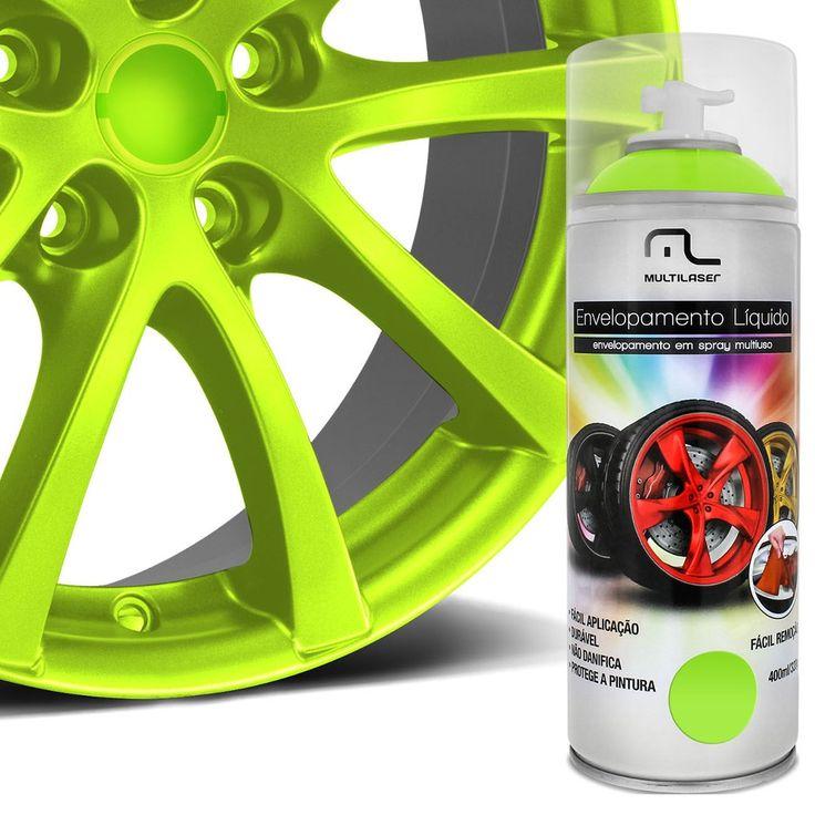 Spray de Envelopamento Líquido Multilaser 400 ml Amarelo Florescente - AutoParts Online