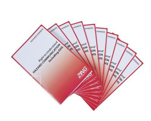 ZING 2709ENG Eco GHS-SDS Training Booklets, English, 10/pack