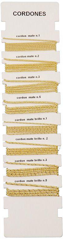 Fabricantes de HILOS DE ORO entrefino y hilos oro para bordar, lentejuelas, entorchados