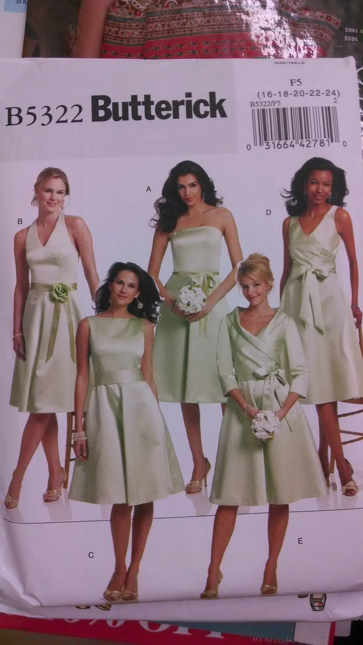 25 best sewing images on pinterest sewing ideas clothing butterick pattern b5322 bridesmaid dressesbridesmaidschildrens bridesmaid dressesbridesmaidflower ombrellifo Images