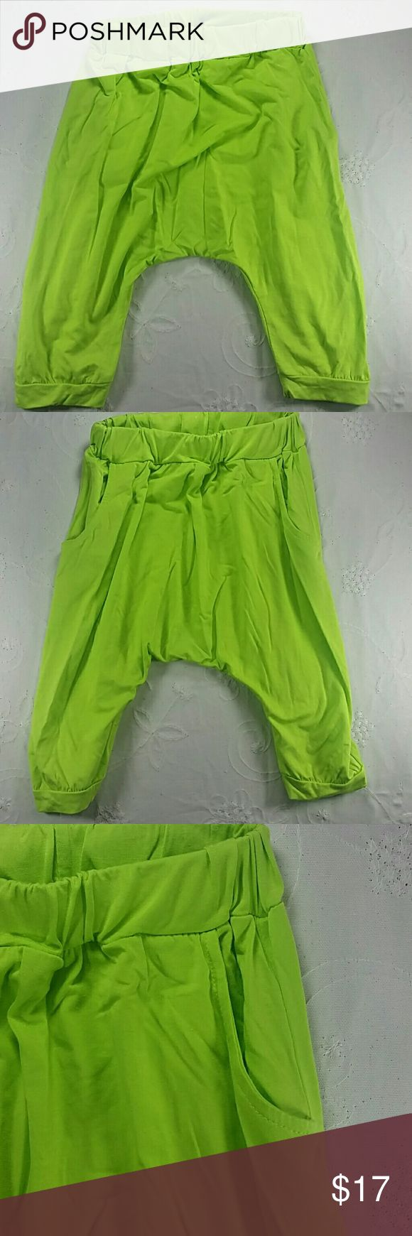 Lime green Harem pants. Kids Adorable and comfortable harem pants in lime green with pockets.  This item is brand new and never used.🎁 with tags.  #14067 Bottoms Sweatpants & Joggers