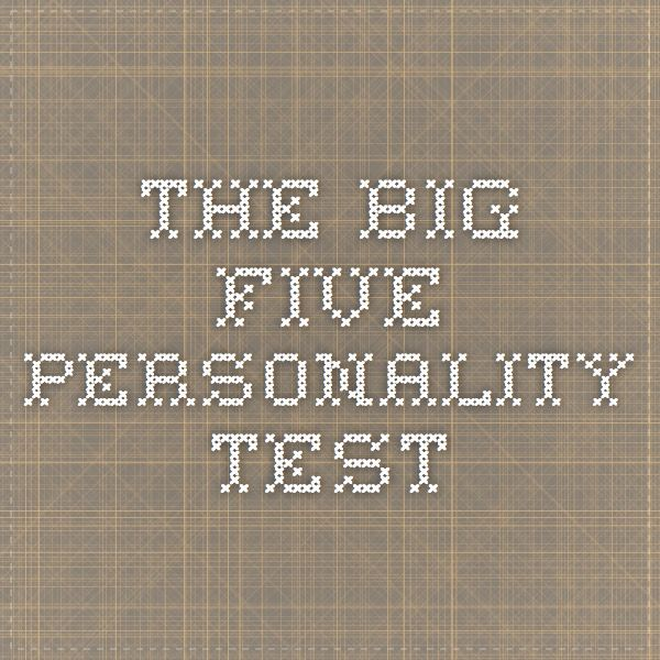 What are the Big Five Personality Traits?