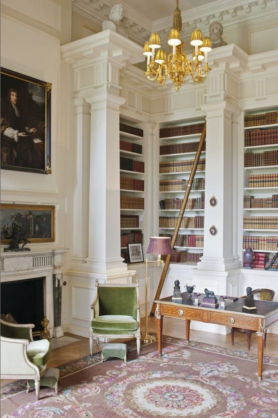 Sophisticated Library in white