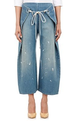 THAI PANTS WHAT --- MM6 Maison Margiela Foldover Jeans at Barneys New York