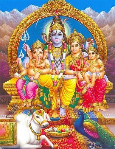 Shiva family - Shiva, Parvati, Ganesha and Kartikeya