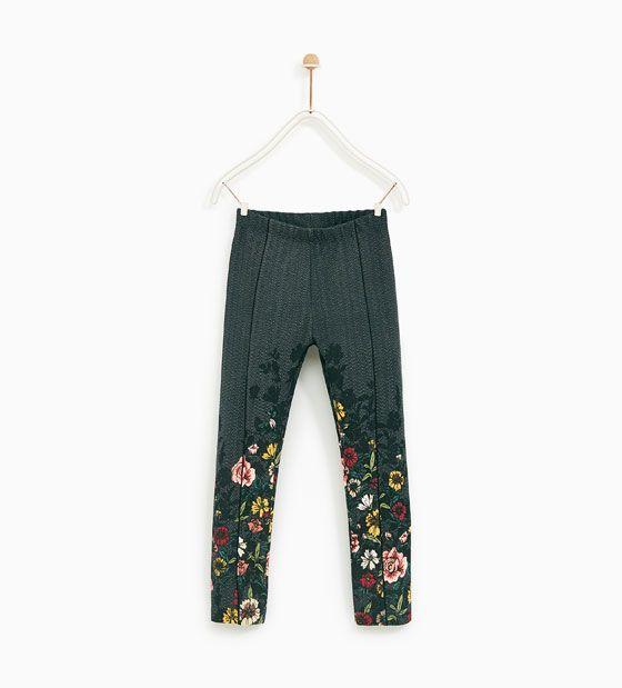 Image 1 of FLORAL PRINT LEGGINGS from Zara