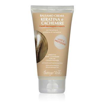 Balsamo Keratina e Cachemire con Keratina e proteine di Cachemire (150 ml) - luce e protezione - capelli danneggiati e spenti