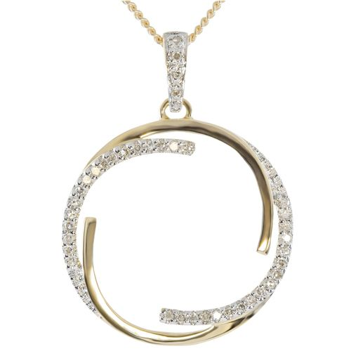 9ct Yellow Gold Circle of Life Diamond Pendant only $168 - purejewels.com.au