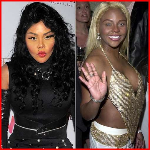 (Right) Lil Kim Before Plastics Surgery