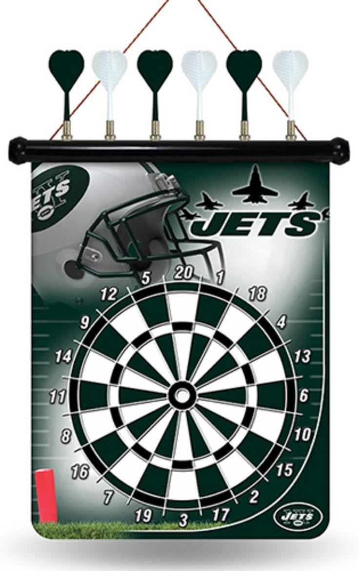 NFL New York Jets Dart Board Set dart