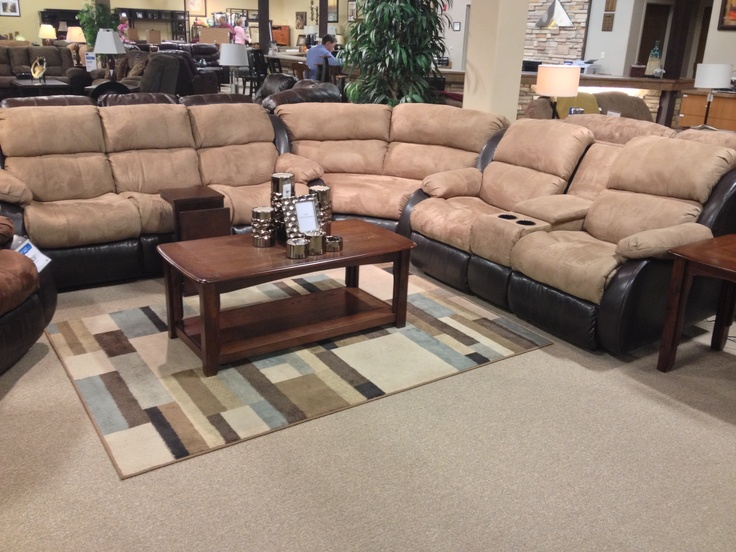 Presley cocoa 3 piece sectional sofa at your ashley for Furniture kennewick wa