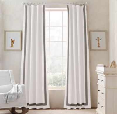 It's hard to find really great blackout curtains like these for the nursery. #rhbabyandchild #fallinlove