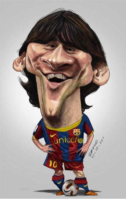 """CARICATURAS DE FAMOSOS: """"Leo Messi"""" por Shijo Varghese"""