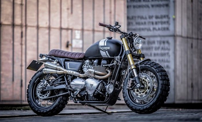 triumph t100 scrambler down out cafe racers motorcycles scrambler motos caferacerpasion. Black Bedroom Furniture Sets. Home Design Ideas