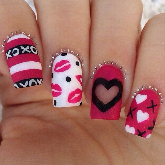 Simple valentines nail ideas