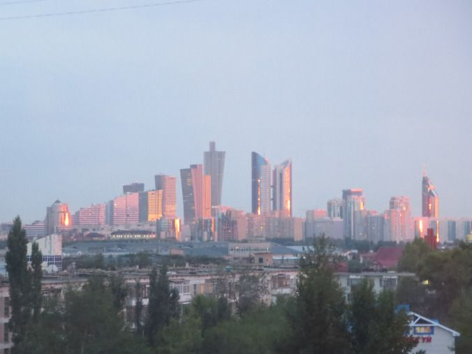 Skyline at sunset - Astana