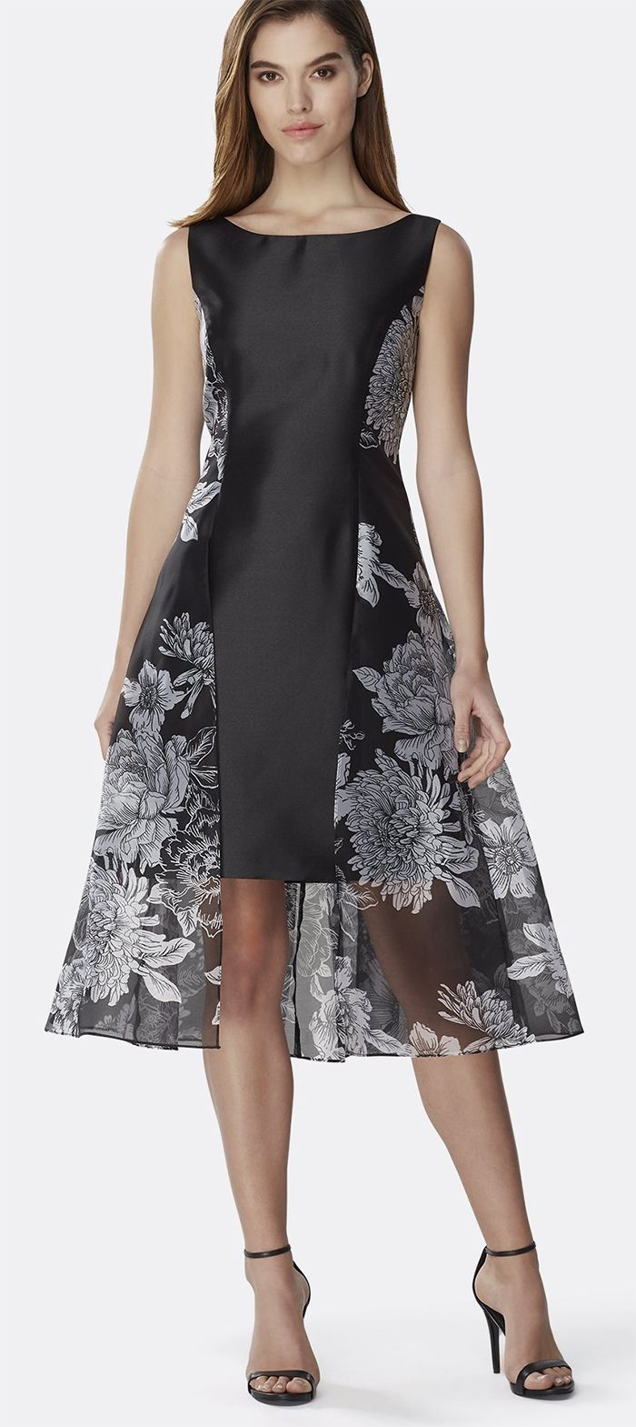Black And White Dress For The Races Entrance Making Sheath Flaunts A Sheer Handkerchief Overlay Kentucky Derby Dress Wedding Guest Outfit Spring Guest Outfit [ 1569 x 700 Pixel ]