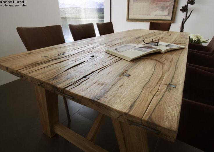 Perfect Massivholz Esstisch Wiking Gestell AEiche Geölt  Form   Möbel Aus  Massivholz Strahlen Ursprünglichkeit, Natürlichkeit Und Wärme Aus. Ideas