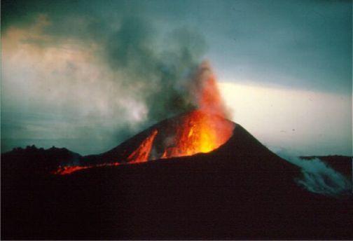 Volcán Teneguía, 1971. Isla de San Miguel de La Palma. Canary Islands.Spain