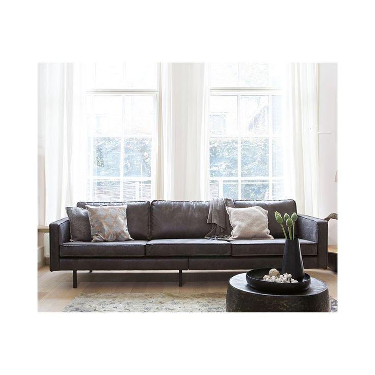 Sofá de piel Rodeo color negro
