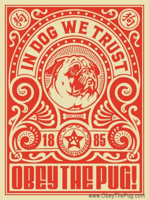 If It's Hip, It's Here: If Shepard Fairey Joined PETA: Obey The Pure Breed Posters & Merchandise
