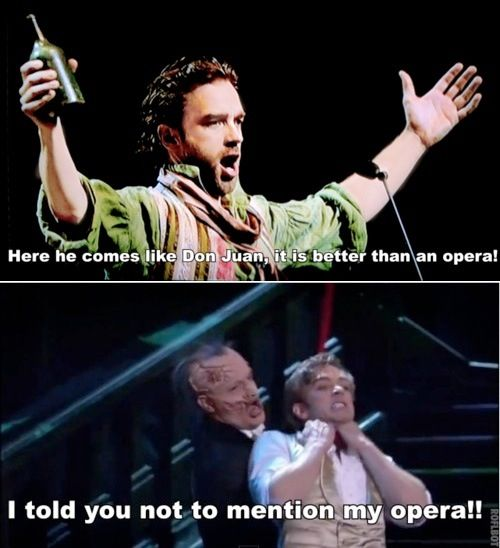 Les Mis And Phantom Crossover. #theatrehumor