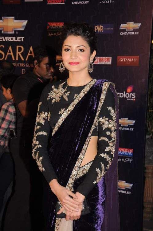 Anushka Sharma in black saree