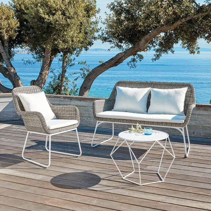465 best outdoor garden furniture images on pinterest for Salon jardin maison du monde