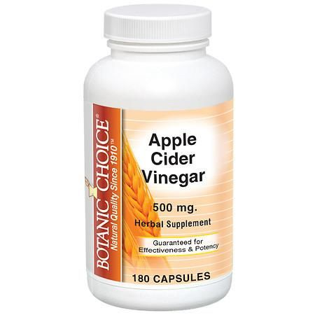 Botanic Choice Apple Cider Vinegar 500 mg Dietary Supplement Capsules - 180 ea.