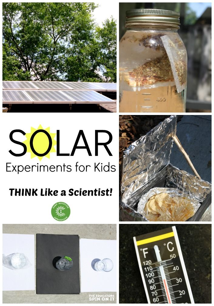 Solar Experiments for Kids: Think Like a Scientist with sun tea, solar oven, water and temperature science experiments