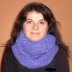 Echarpe snood, très douce, tricotée main, en cachemire, angora et laine…