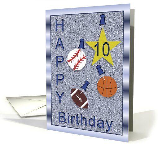 10th Birthday Card Ten Year Old Boy