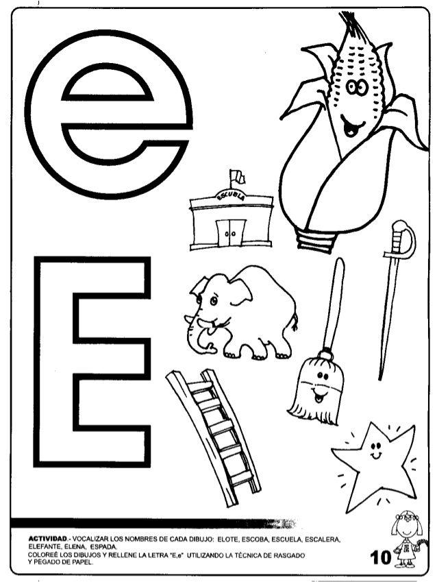 Resultado de imagen para actividades para trabajar la letra e en ...