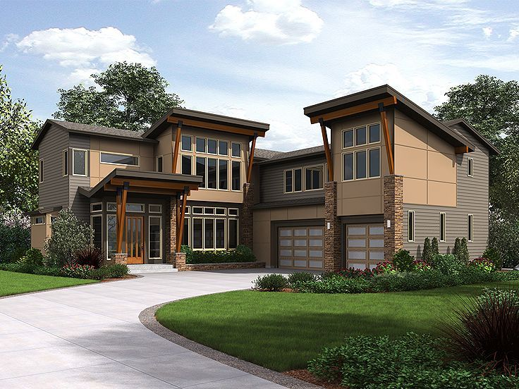 Modern luxury house 035h 0145 open floor plan lots of for Fun house plans