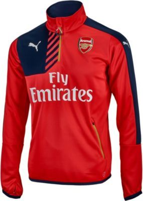 Puma Arsenal 1/4 Zip Training Top. Get your own at www.soccerpro.com today!