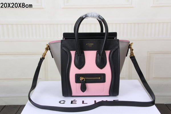 This is an authentic CELINE Smooth Leather Tricolor Nano NEW. This ...