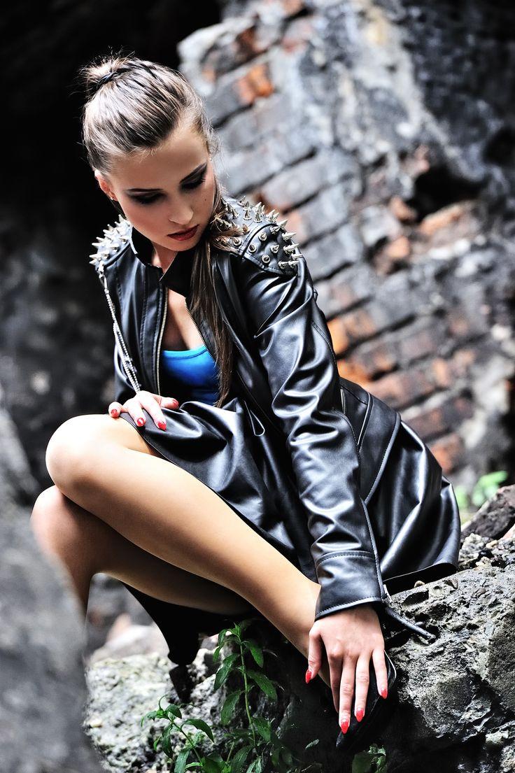 Skórzane kurtki motocyklowe - damska ramoneska - zapraszamy na www.ramoneska.pl