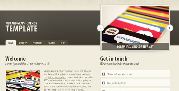 Dark brown portfolio theme PSD Templates / Creative / Portfolio by pieter_vermeulen