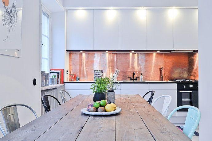 copper - Stunning Copper Backsplash For Modern Kitchens   Decozilla
