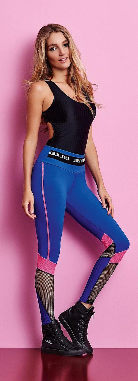 Blue Workout Legging - CajuBrasil Active Attire - San Diego Fit