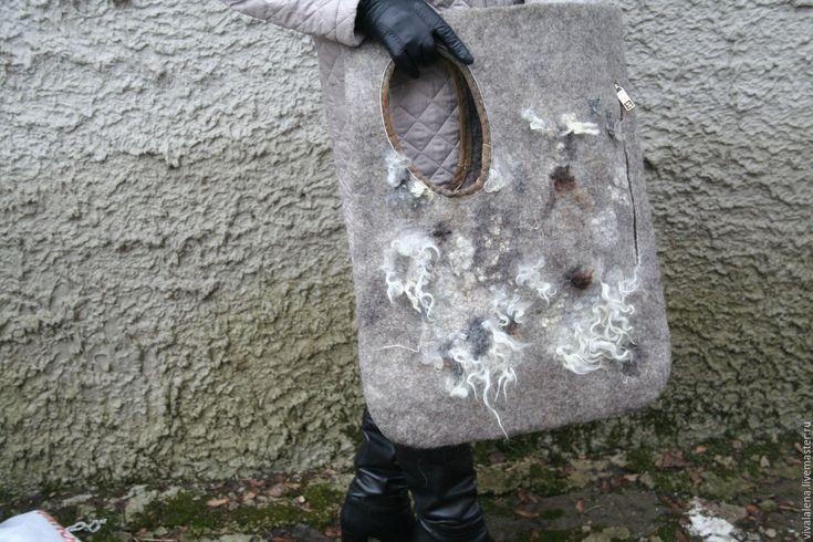 Купить сумка большая войлочная - большая сумка, войлочная сумка, стиль бохо, стиль гранж