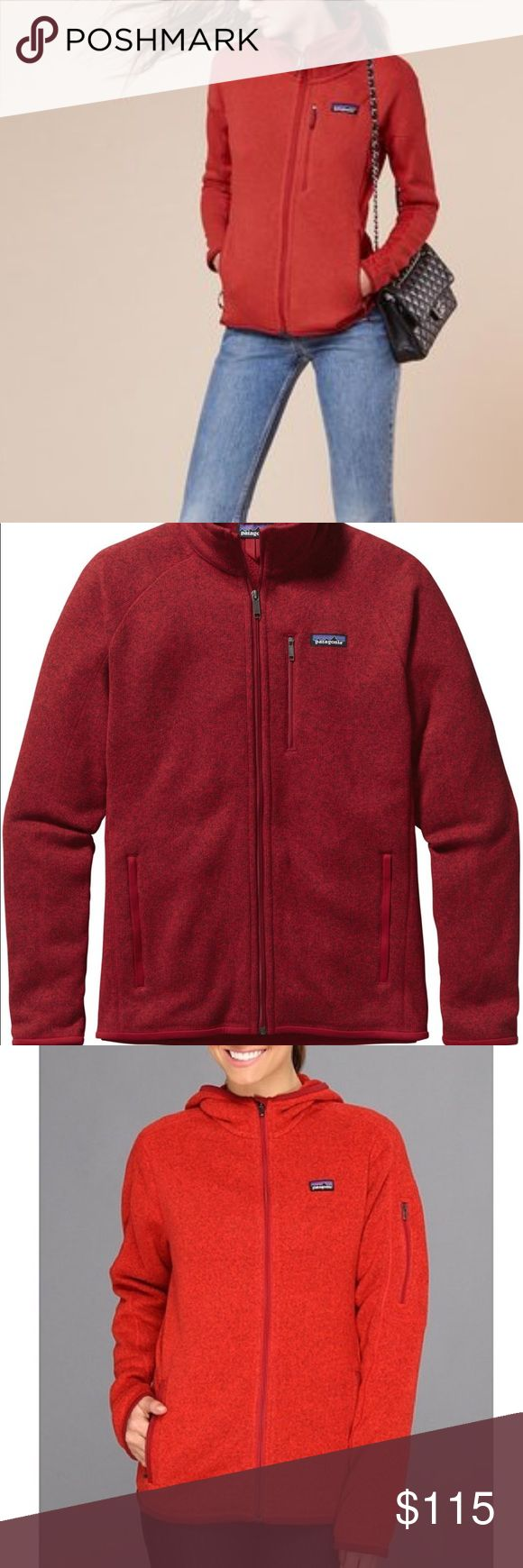 Patagonia better sweater red jacket Second photo shows color!  ⚡️NO trades  ⚡️open to ALL offers!  ⚡️ bundle for MAJOR discounts!  ⚡️feel free to ask any questions ⚡️ I will not respond to offers in the comments, please use the offer button for all offers.  ⚡️Please only ask for model photos if you are very interested!  ⚡️All sales are final and all offers are binding.  ⚡️ If I miss your comment, please comment again! Patagonia Jackets & Coats