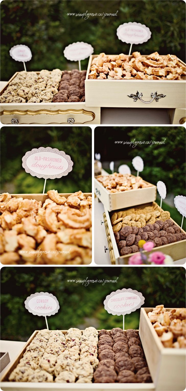 Eeek! Goodies in awesome vintage looking drawers = AMAZING! Nibbles for cocktail hour...we could so make these!