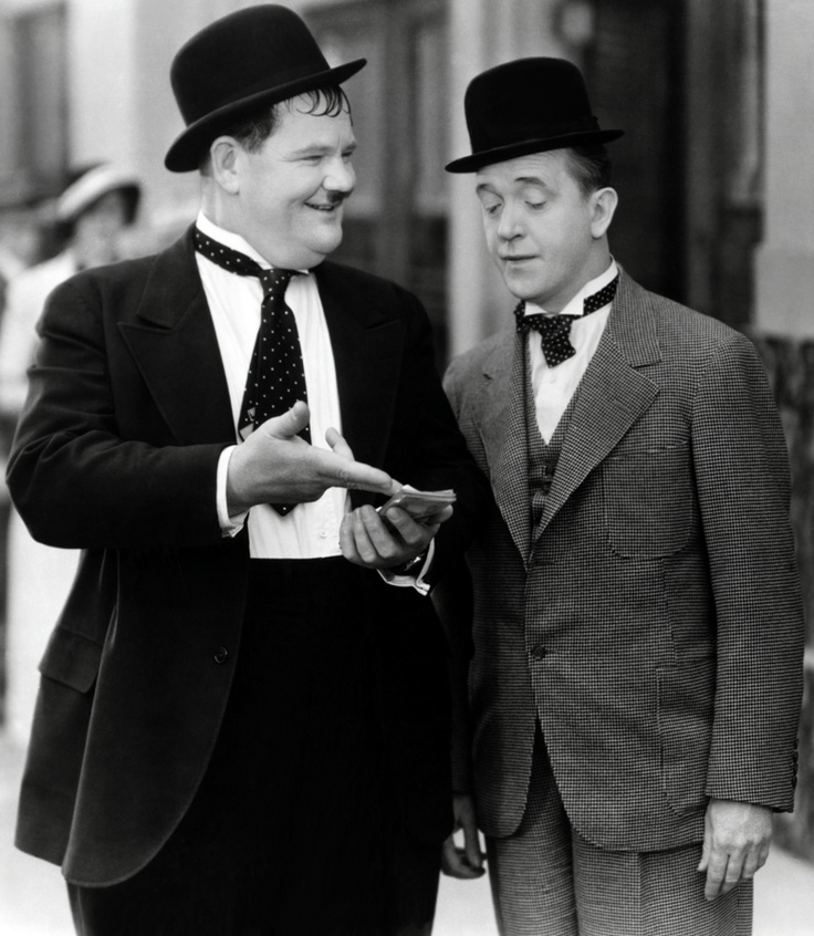 """Laurel & Hardy in """"Thicker than Water"""" (1935) • photo: Hal Roach Studios"""