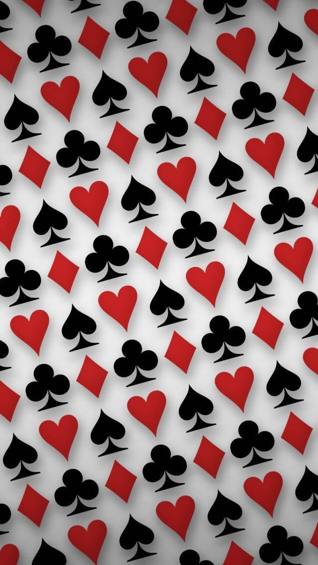 Playing Cards Symbols Digital Art #iPhone #5s #Wallpaper