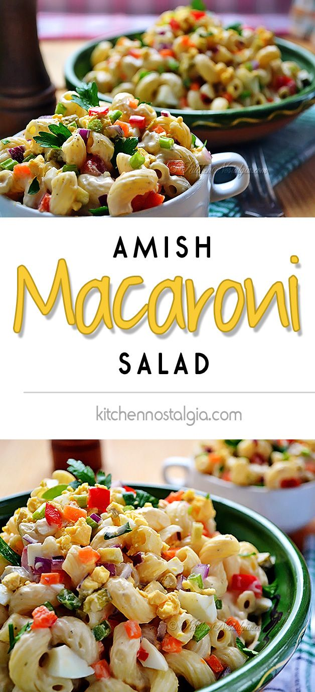 Amish Macaroni Salad - an Amish country fantasy dish - kitchennostalgia.com